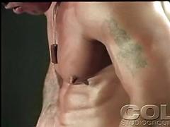 Minute Man. Bodybuilder posing naked