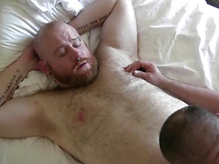 Tattooed, rough-and ready Max O Connel eats Ashby Red ass like a fuzzy peach before getting his thick dick deep inside