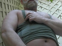 Hairy daddy bear Brent Cage