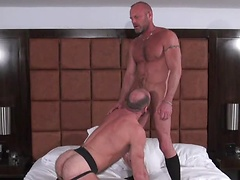 Chad takes possession of that hairy ass, pounding and seeding the raw bottom