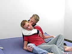 These two blonde-haired, look-alike boys tear into each other in this hardcore video