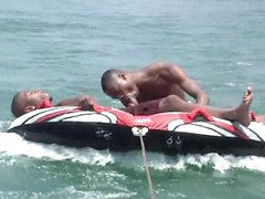 New recruits Cassanova and Jermany get wet and wild in the shallow water for this video, sucking and fucking each ...