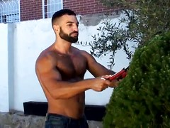 You'll gag on Araham Al Malek's fucking debut where he plays the gardner of an angry villa-owner (Damien Crosse). ...