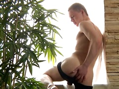 Cute 18year old bottom boy David shows us his stuff in this sexy solo video. He teases us with his long uncut cock ...