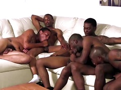 The thugs start off by reminiscing how long they been sucking dick for Thug Orgy and we got here some seriously ...