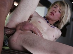 Kinky little white drug-runner gets stuffed by a big black dominican cock! HD