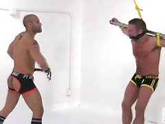 Bound Jocks - Leo Forte Flogs Dirk Caber