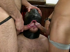 Punished From Both Ends With 2 Big, Fat Uncut Dicks
