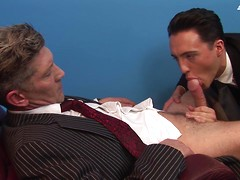 Young office junior goes to any fucking lengths to please his hyper-horny manager