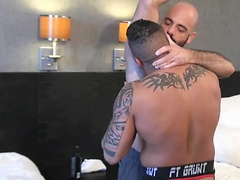 Adam Russo and Travis Saint Enjoy Bareback Daddy/Son Roleplay