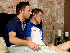 Daniel and Riley enjoy more than a footie match when cock is on the line