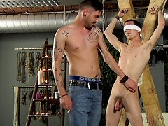 After being sucked and wanked to a climax, Reece's sensitive cock sends him wild!