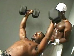 Juice's body is in top shape for this one-on-one video with black superstar Thugzilla. He starts off by pumping his ...