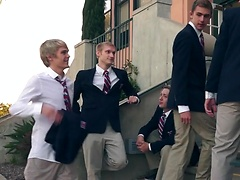 Helix Academy horse cock Troy Ryan and It's on When his bros Logan Cross & Kody Knight