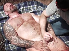 Marc Angelo and Scott Locke - Outdoor Handjob