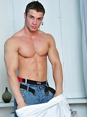 Beauty latin guy shows his straight body - Gay porn pics at GayStick.com