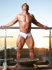 Muscle man posing - Gay porn pics at GayStick.com