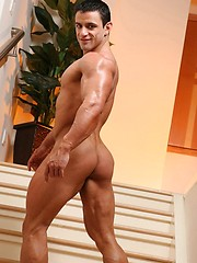 Alejandro shows his  extremely hot ripped body - Gay porn pics at GayStick.com