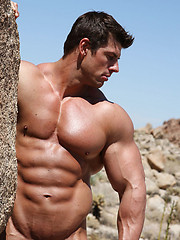 Zeb Atlas posing naked