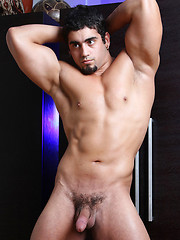 Latin bodybuilder Angelo first adult set - Gay porn pics at GayStick.com