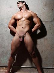 Muscled latino boxer shows his naked body - Gay porn pics at GayStick.com