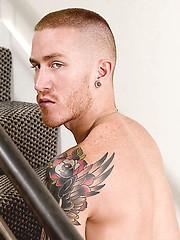 Tattooed British guy jerksoff - Gay porn pics at GayStick.com
