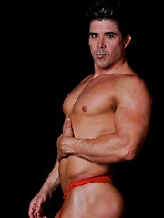 Firefighter Sebastian Stone shows off his ass and body - Gay porn pics at GayStick.com