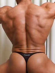 Yummy shows off his great ass and his jockstrap - Gay porn pics at GayStick.com