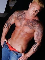 Massive tattooed stud in this jockbutt exclusive set. - Gay porn pics at GayStick.com