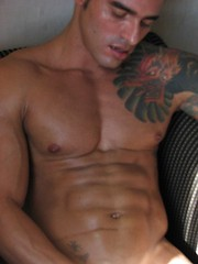 Sexy Alexsander shows off his muscular body and great cock - Gay porn pics at GayStick.com