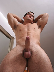 Hot muscled men Alain Lamas solo - Gay porn pics at GayStick.com