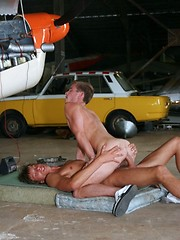 Dirty gay games at the airfield - Gay porn pics at GayStick.com
