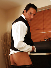 Marcello is studying at home and then has a sneaky wank - Gay porn pics at GayStick.com