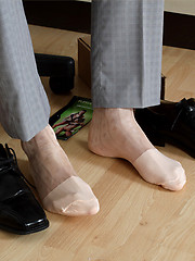 Marcello takes off his shoes and then wanks his cock into a fleshlight - Gay porn pics at GayStick.com