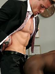 Interracial guys fucking at doctor office - Gay porn pics at GayStick.com