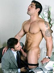 Muscled gay fuck his buddy - Gay porn pics at GayStick.com