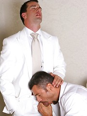 Gays fucking at business breakfast - Gay porn pics at GayStick.com