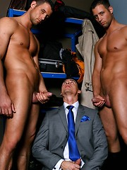 Couple of rough boners stuck in one gay asshole - Gay porn pics at GayStick.com