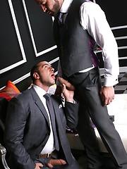 Muscled boss fucks his partner - Gay porn pics at GayStick.com