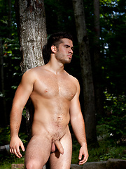 Big muscled man outdoors - Gay porn pics at GayStick.com