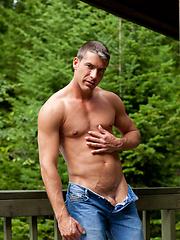 Hunk outdoor solo photo set - Gay porn pics at GayStick.com