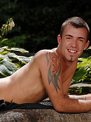 Nice looking stud outdoors - Gay porn pics at GayStick.com