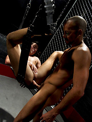 Tristan Phoenix is already on his knees with Antonio Biaggi massive cock in his throat