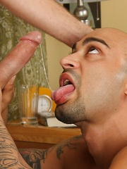 Two bald daddies love to fuck each other holes - Gay porn pics at GayStick.com