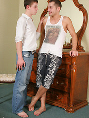 Cock-hungry and cum-thirsty gay mates from Russia - Gay porn pics at GayStick.com