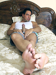 Marcello plays with his cock