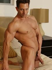Hot strong daddy solo posing - Gay porn pics at GayStick.com