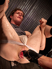 Ashley and Caedon enter the dungeon, and immediately get into a hard fisting - Gay porn pics at GayStick.com