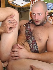 Two gay daddies have wild anal sex - Gay porn pics at GayStick.com