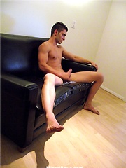Hot latino boy Rocco plays with hard cock - Gay porn pics at GayStick.com